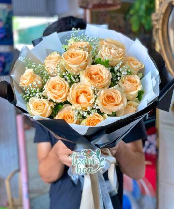 Bó hoa hồng hột gà