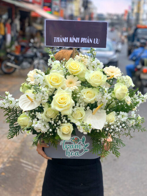 Hoa viếng để bàn 1