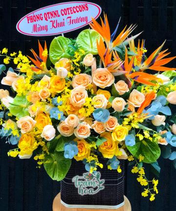 Lẵng hoa để bàn Trọn Niềm Vui