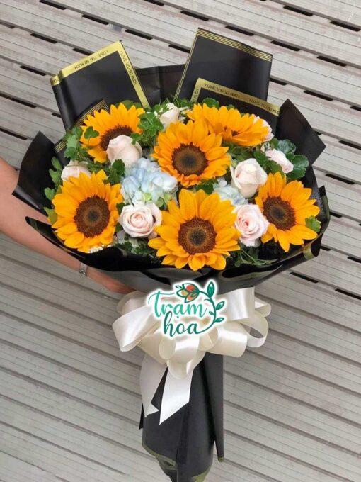 Bó hoa tươi - trạm hoa