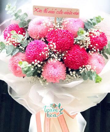Bó hoa cúc mẫu đơn 2
