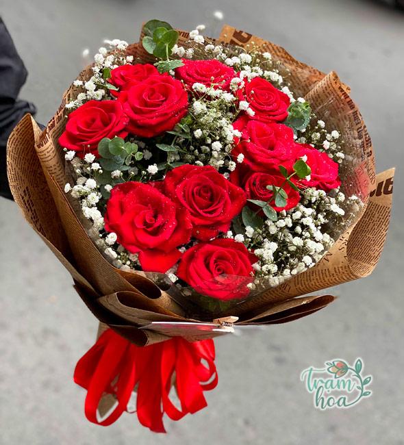 Bó hoa hồng đỏ tặng vợ ngày 8-3