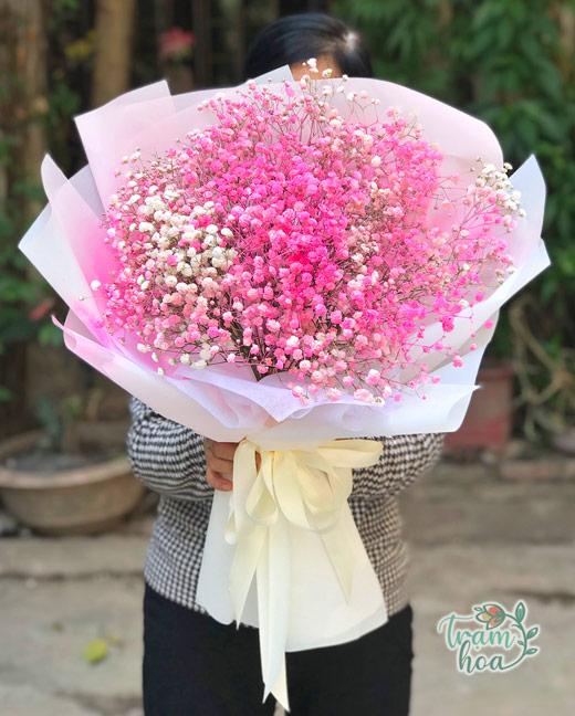 Bó hoa baby hồng