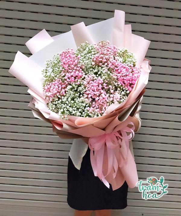 Bó hoa baby tặng vợ ngày valentine 14-2