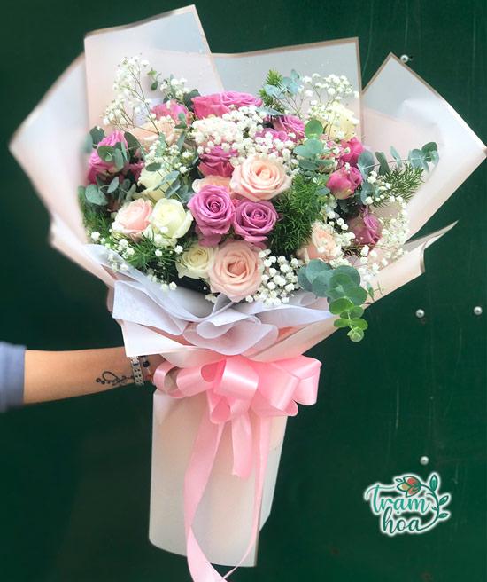 Bó hoa tươi đẹp tặng ngày 20-10