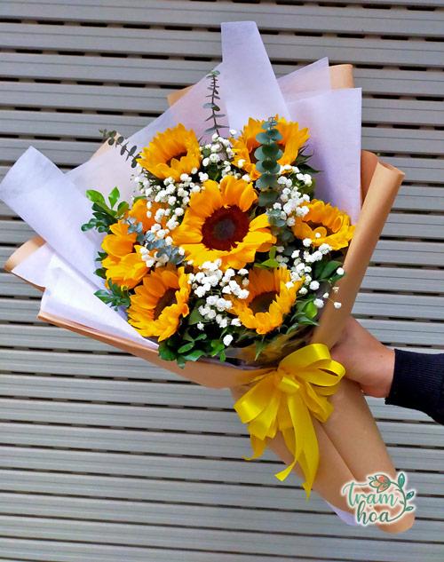Bó hoa hướng dương cảm ơn, dành tặng người thân