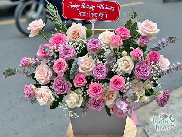 Lẵng hoa đẹp tặng ngày phụ nữ Việt Nam 20-10