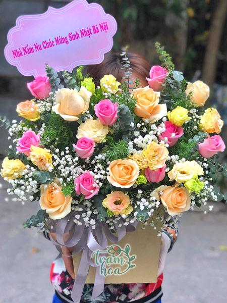 Địa chỉ mua lẵng hoa để bàn đẹp